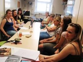 Doučovatelé na evaluační schůzce – 17.6.2010