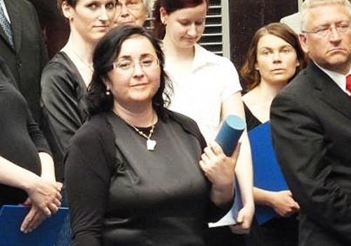 Předávání stříbrné medaile p.dr. Lence Gulové – 11.5.2011