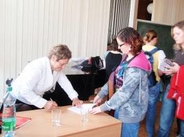 Beseda sp.Erikou Bezdíčkovou – 11.5.2010