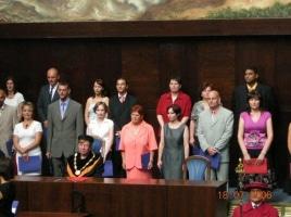 Promoce našich romských studentů – červenec 2006